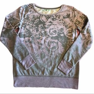 Maurices Floral Long Sleeve Pullover Sweatshirt M